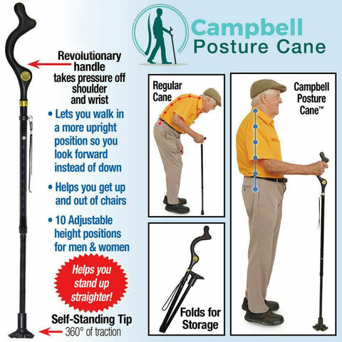 Image of Elderly Walking Stick (Telescopic + Lightweight)