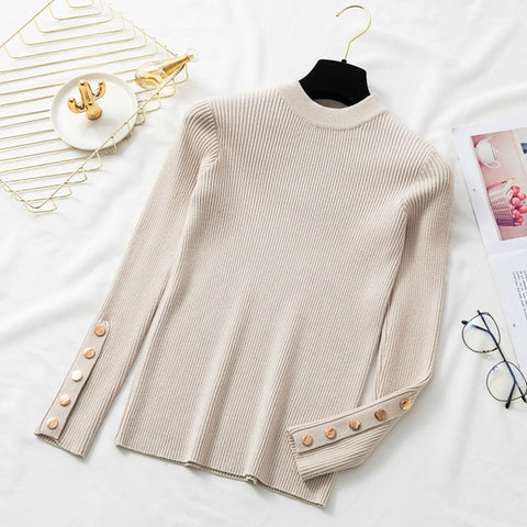 Autumn Long Sleeve Cashmere Pullover for Women