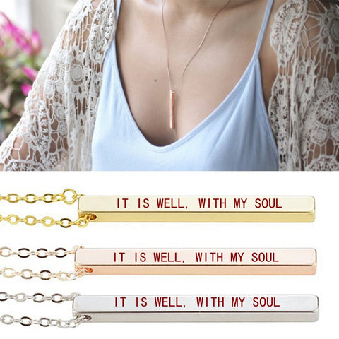 Image of IT IS WELL, WITH MY SOUL Necklace