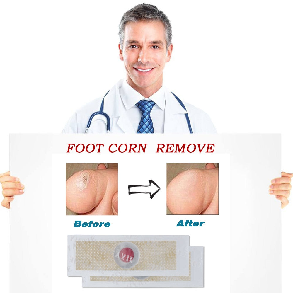 Medical-grade Foot Corn & Wart Removal Patches  (12 Count)