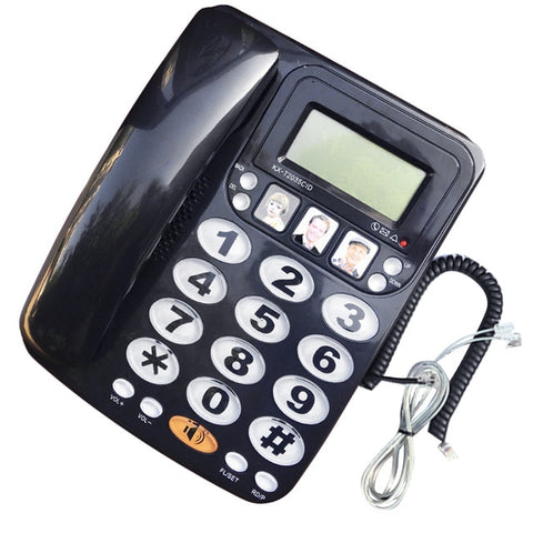 Image of Large Button Corded Telephone With Caller ID Display