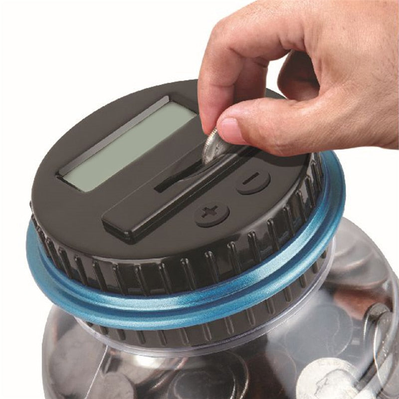 Piggy Bank Electronic Coin Counter 2.5L - Never Count Coins Again!