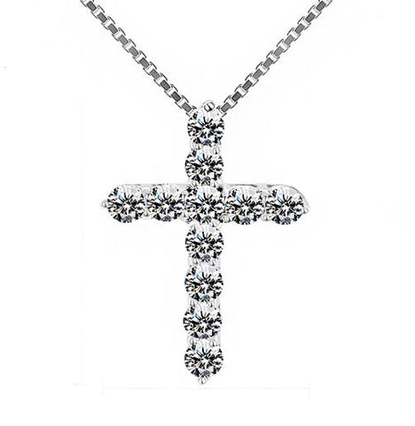 Image of Diamond Cross Necklace