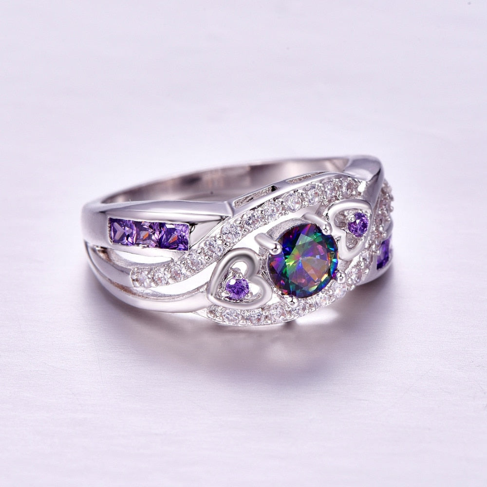 Oval Heart Ring