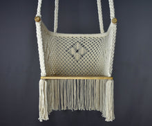 "Load image into Gallery viewer, Youth ""Luna"" Boho Style Hanging Macrame Hammock Chair"