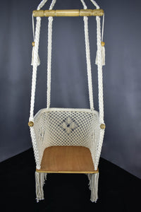 "Youth ""Luna"" Boho Style Hanging Macrame Hammock Chair"