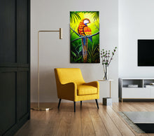 "Load image into Gallery viewer, ""Tropical Vibes"" Acrylic Painting on Canvas"