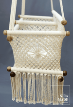 Load image into Gallery viewer, Twin Baby Handwoven Hammock | Double Macramé Swing Handmade Chair