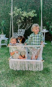 Twin Baby Handwoven Hammock | Double Macramé Swing Handmade Chair