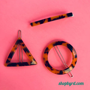 Torti Hair Clips, Triangle, Circle and Barette