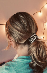 Black and White Stripe Twist