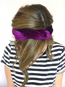 Purple Velvet Wire Headband