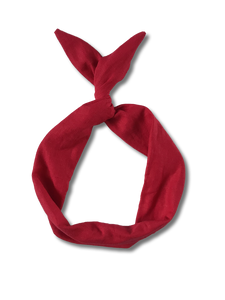 Red Linen Wire Headband