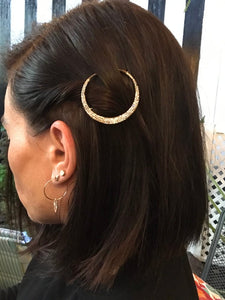 Rhinestone Moon and Star Hair Clips
