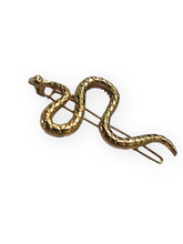 Load image into Gallery viewer, Gold Snake Hair Clip