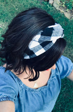 Load image into Gallery viewer, Red and Black Buffalo Plaid Flannel Wire Headband