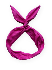 Pink Cross Hatch Wire Headband