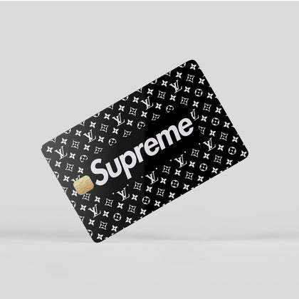 Credit Card Credit Card Supreme LV Supreme Black Window Skin Sticker - Luxury Vinyl