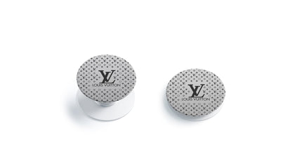 PopSocket PopSocket Louis Vuitton Silver Monogram LV  Skin Sticker - Luxury Vinyl