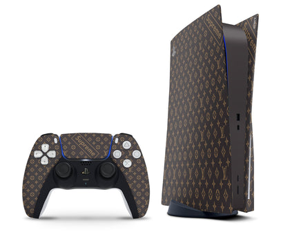 PlayStation PS5 Louis Vuitton Supreme Monogram LV PS5 Skin Sticker - Luxury Vinyl