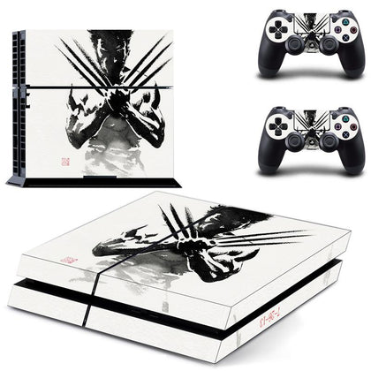 PlayStation PS4 Wolverine Skin Sticker - Superhero Vinyl