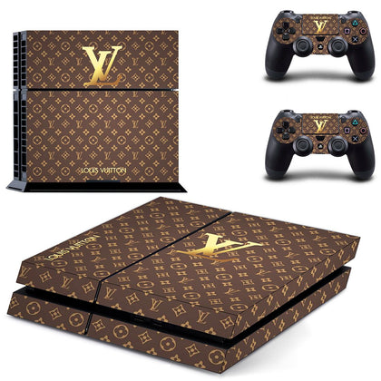 PlayStation PS4 Louis Vuitton LV Gold  Skin Sticker - Popculture Vinyl