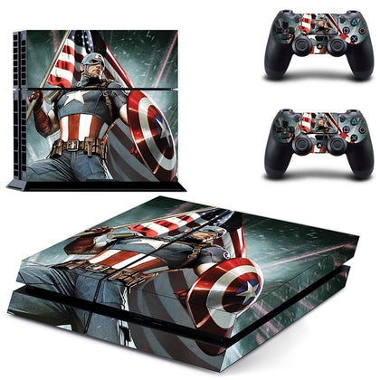 PlayStation PS4 Captain America Skin Sticker - Superhero Vinyl