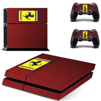 PlayStation PS4 Ferrari Skin Sticker - Popculture Vinyl