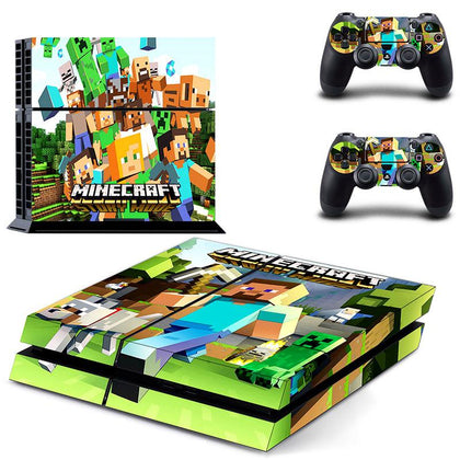 PlayStation PS4 Minecraft Skin Sticker - Game Vinyl