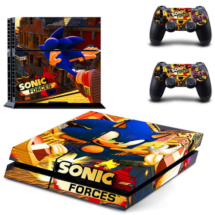 PlayStation PS4 Sonic Skin Sticker - Game Vinyl