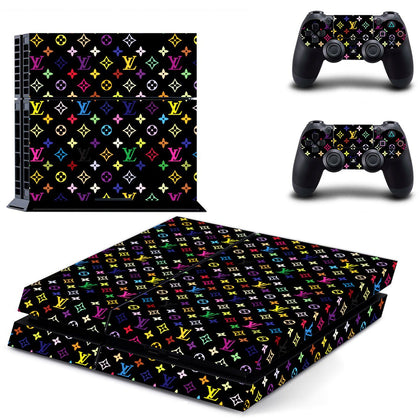 PlayStation PS4 Louis Vuitton Monograme Colour  Skin Sticker - Popculture Vinyl