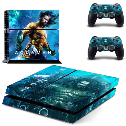 PlayStation PS4 Aquaman Skin Sticker - Superhero Vinyl