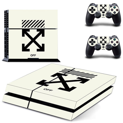 PlayStation PS4 Offwhite Logo  Skin Sticker - Popculture Vinyl