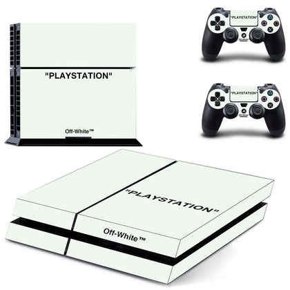 PlayStation PS4 Offwhite Playstation Quote  Skin Sticker - Popculture Vinyl