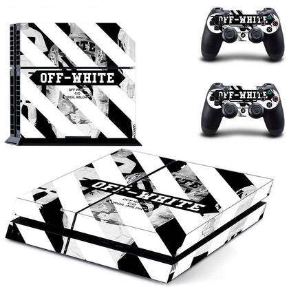 PlayStation PS4 Offwhite Stripes  Skin Sticker - Popculture Vinyl