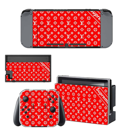 Nintendo Nintendo Switch Louis Vuitton LV Supreme  Skin Sticker - Popculture Vinyl