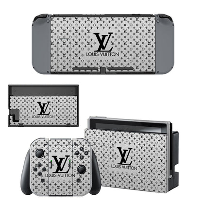 Nintendo Nintendo Switch Louis Vuitton Monogram LV Silver  Skin Sticker - Popculture Vinyl