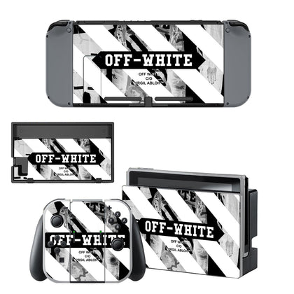 Nintendo Nintendo Switch Offwhite Stripes  Skin Sticker - Popculture Vinyl