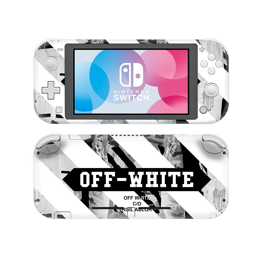 Offwhite Stripes Nintendo Switch Lite Skin Sticker Wrap