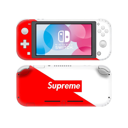 Nintendo Nintendo Switch Lite Supreme Red White  Skin Sticker - Popculture Vinyl