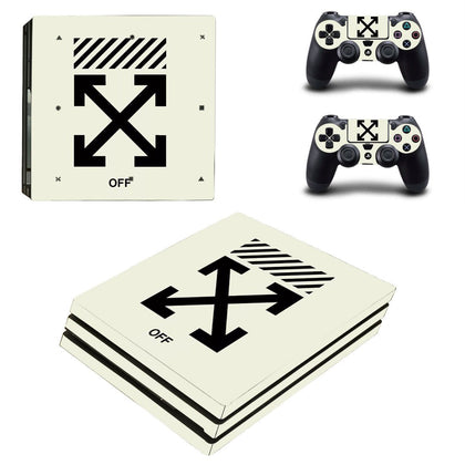 PlayStation PS4 Pro Offwhite Logo  Skin Sticker - Popculture Vinyl