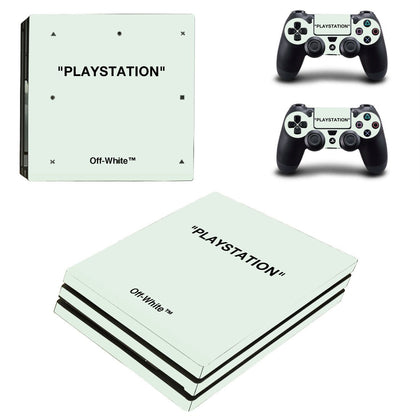 PlayStation PS4 Pro Offwhite Playstation Quote  Skin Sticker - Popculture Vinyl