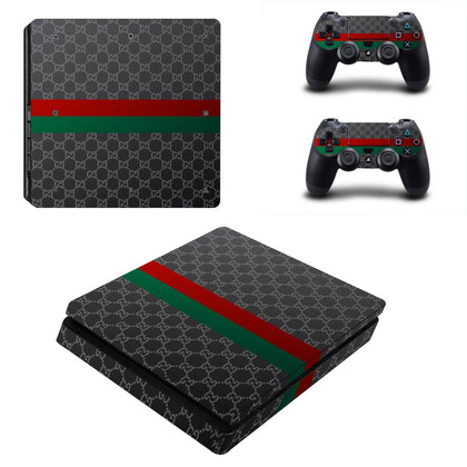 PlayStation PS4 Slim Gucci Classic Stripe  Skin Sticker - Popculture Vinyl