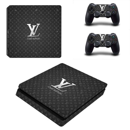 PlayStation PS4 Slim Louis Vuitton LV Silver  Skin Sticker - Popculture Vinyl