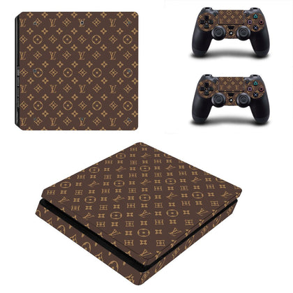 PlayStation PS4 Slim Louis Vuitton Monogram  Skin Sticker - Popculture Vinyl