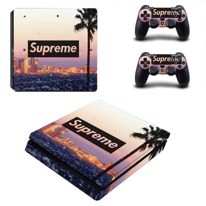 PlayStation PS4 Slim Supreme Palm Tree  Skin Sticker - Popculture Vinyl