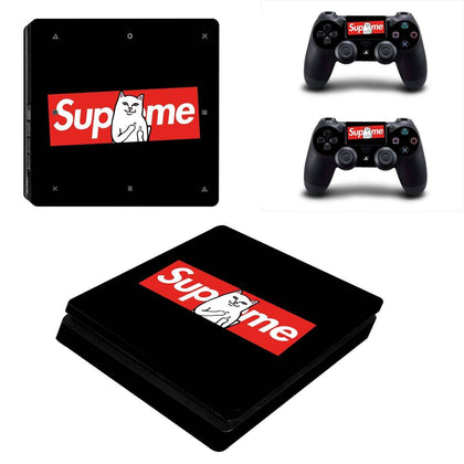 PlayStation PS4 Slim Supreme RipNDip  Skin Sticker - Popculture Vinyl