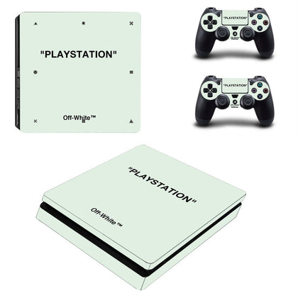 PlayStation PS4 Slim Offwhite Playstation Quote  Skin Sticker - Popculture Vinyl