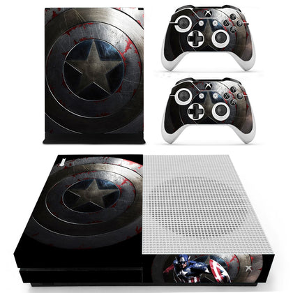 Xbox Xbox One S Captain America Skin Sticker - Superhero Vinyl