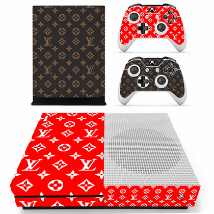 Louis Vuitton Monogram Supreme Xbox One S Skin Sticker Wrap
